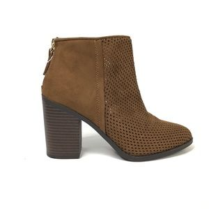 Perforated Laser Cut Ankle Boots